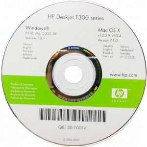 диск с драйверами HP F380