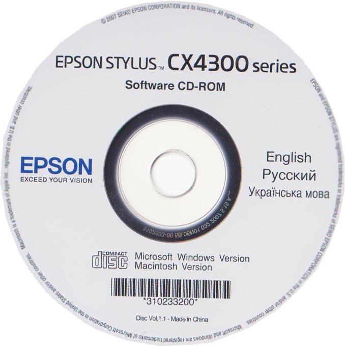 скачать драйвер для принтера epson stylus cx4300 series