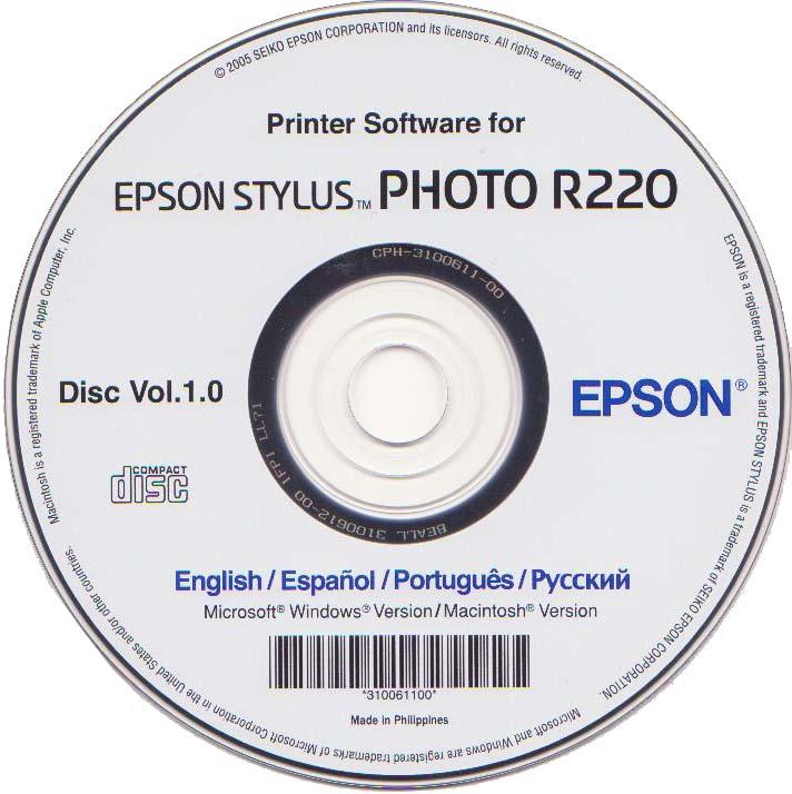 скачать драйвер epson r390