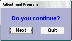 Adjustment program