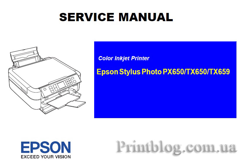 service manual epson stylus photo px650 tx650 tx659. Black Bedroom Furniture Sets. Home Design Ideas