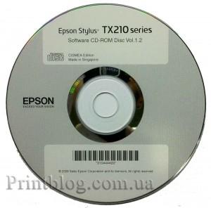 Установочный диск Epson TX210