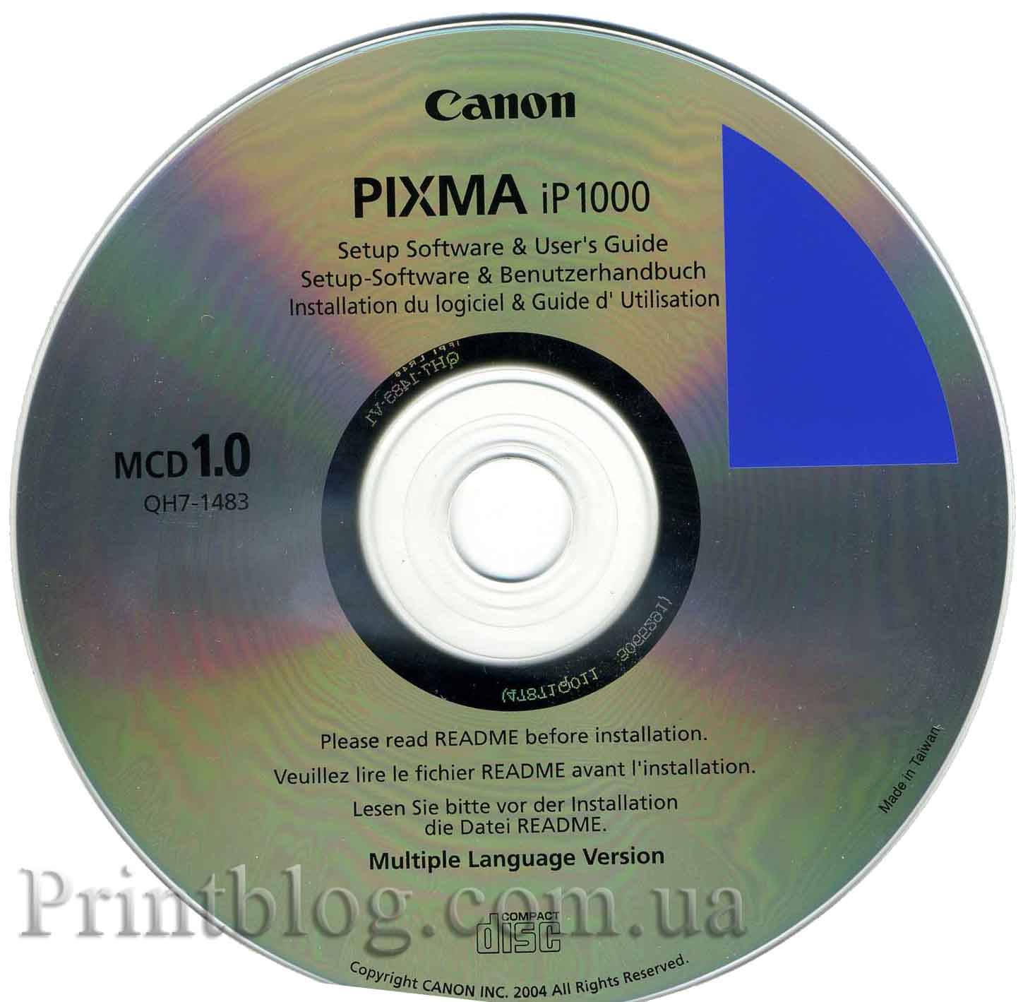 ... диск с драйверами и ПО от Canon PIXMA IP1000