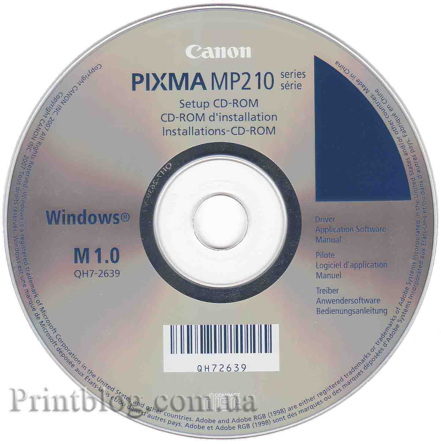 Драйвера на canon pixma mp210 скачать