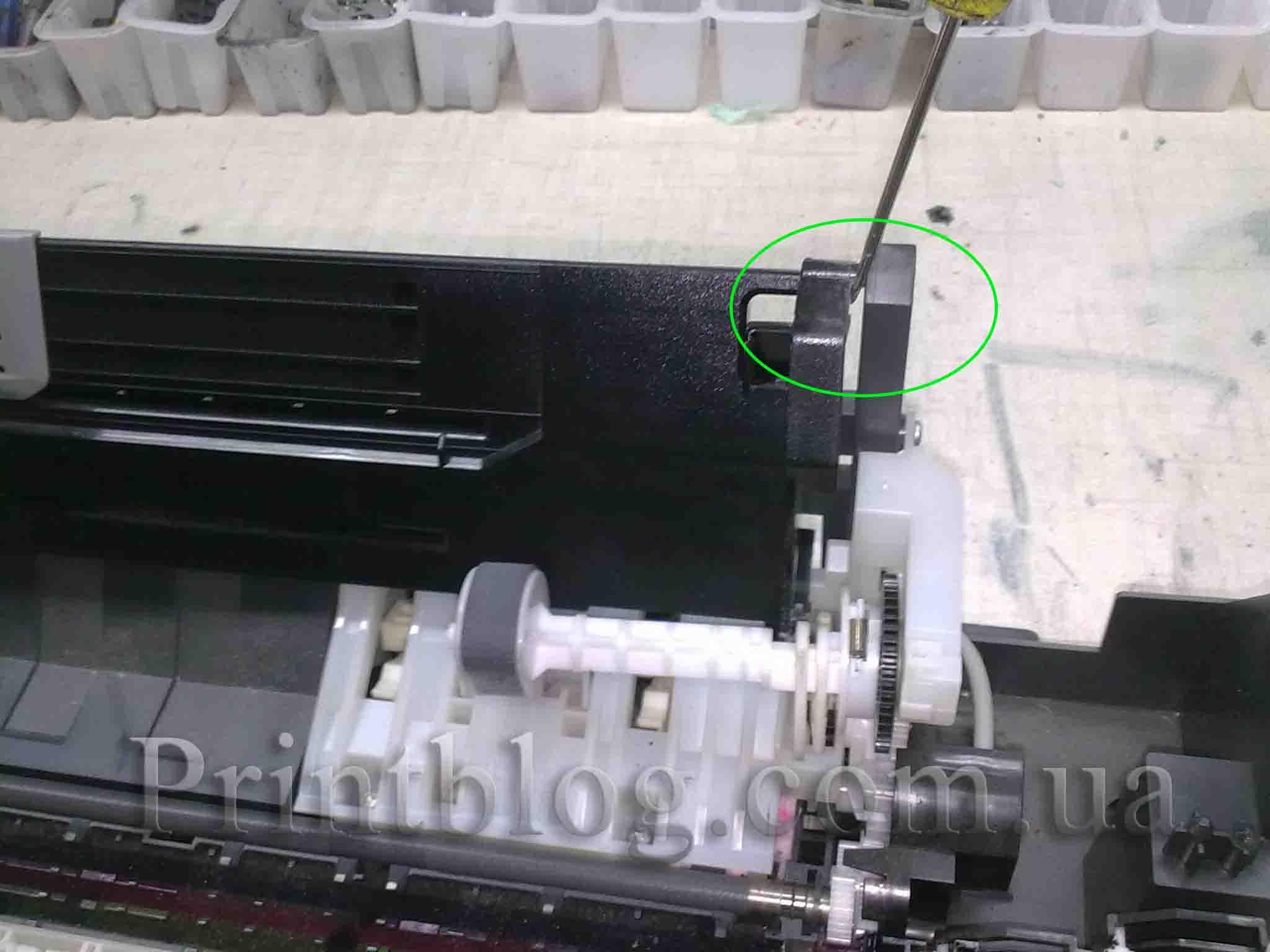 Epson t50 застряла бумага