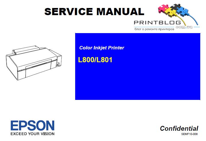 Service manual Epson L800,