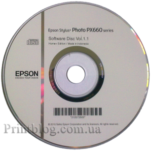 Установочный диск Epson Stylus Photo PX660