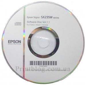Оригинальный диск Epson Stylus SX235W