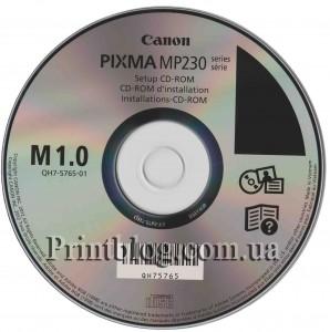 Оригинальный установочный диск Canon Pixma MP230
