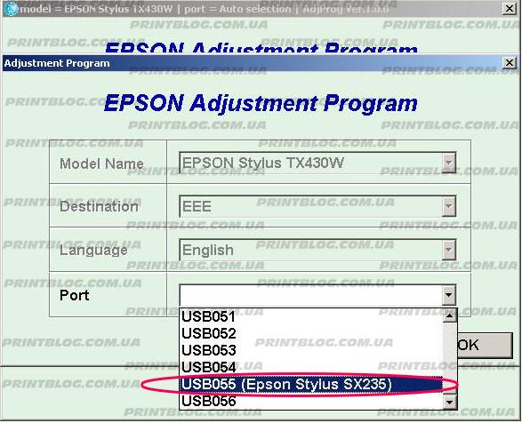 ADJUSTMENT PROGRAM EPSON STYLUS SX230 SX235W SX430 СКАЧАТЬ БЕСПЛАТНО