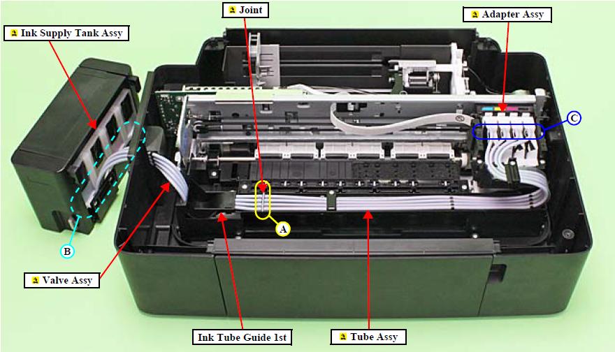 Разборка принтера Epson L200