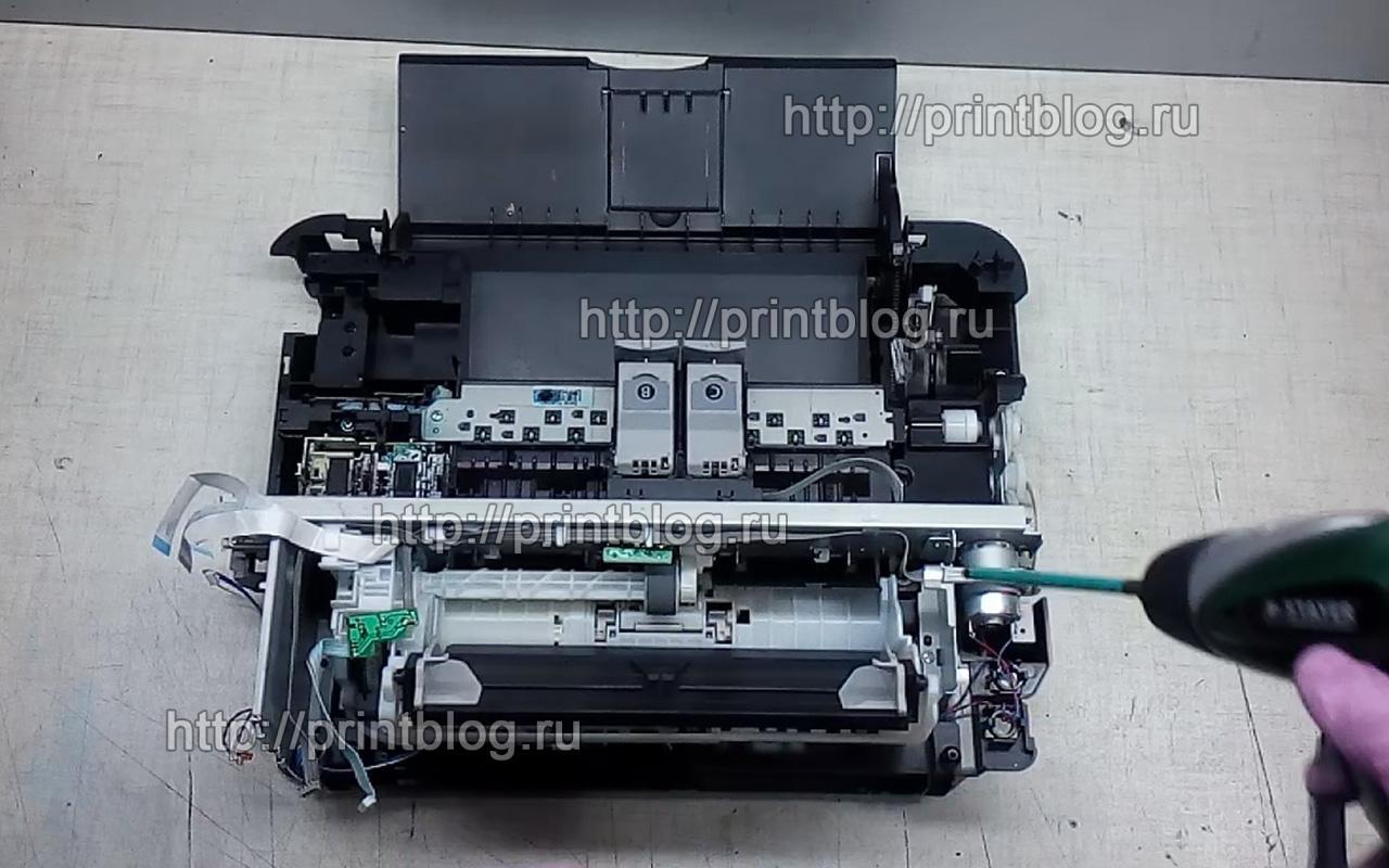 Разборка принтера Canon Pixma MP280